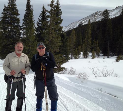 Nathrop, CO: Mike M. and Gregg R. on the way up to Tin Cup Pass