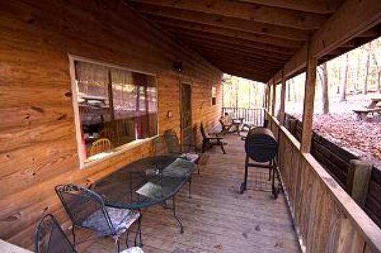 Marble Falls, AR: Back porch