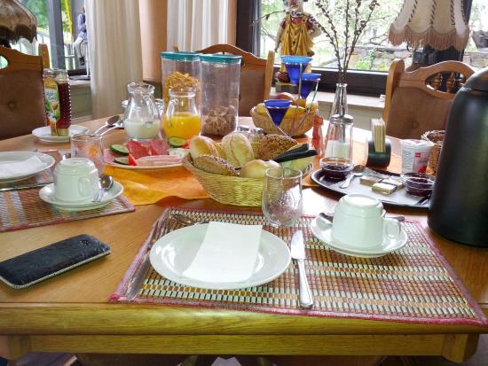 Valwig, Alemania: ruim ontbijt