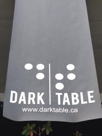 Dark Table Front Banner And Story Board.