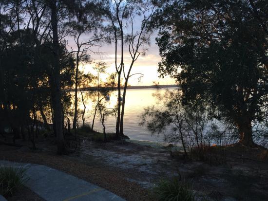 Myall Lakes National Park, Australia: Sunrise from the villa