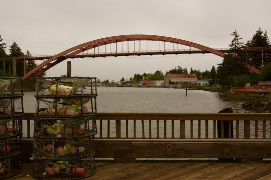 La Conner, WA: Bridge with Crab Pots