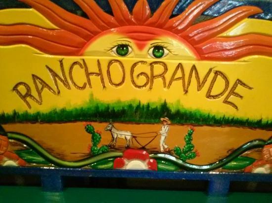 hand painted bench at Rancho Grande Magnolia Tx