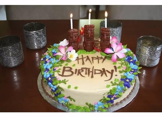 Stupendous Luau Birthday Cake 2 Flowers Are Pastry Not Flora Picture Funny Birthday Cards Online Elaedamsfinfo