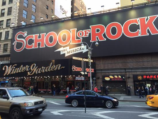 Winter Garden Theater On Broadway Ave Picture Of School Of Rock