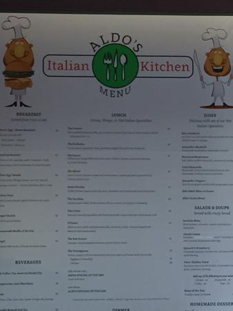 Aldo 39 s italian kitchen alexandria restaurant reviews for Italian kitchen hanham phone number
