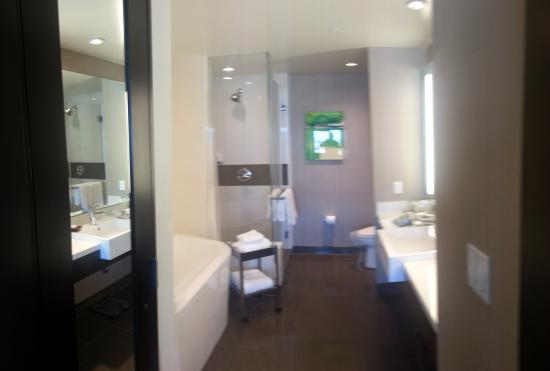 bathroom is spacious and clean tub is deep and shower has room for rh tripadvisor com