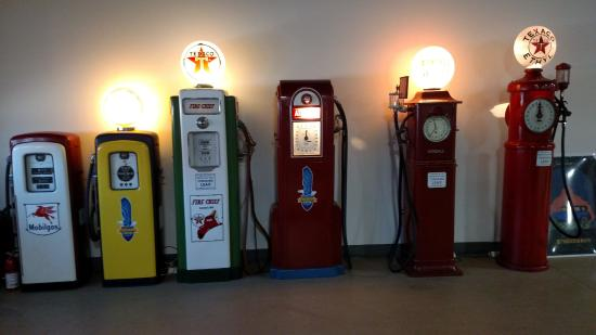 some of the old gas station pumps - Picture of Pierce-Arrow
