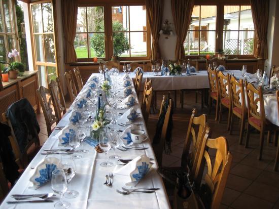 Landhotel Huber Am See: tolle Tischdeko
