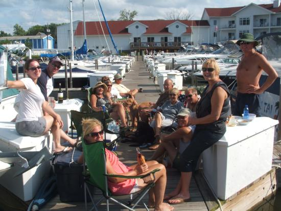 dock party at oselka marina picture of oselka marina new buffalo rh tripadvisor com