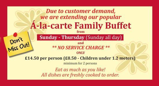 Charing, UK: À-LA-CARTE FAMILY BUFFET