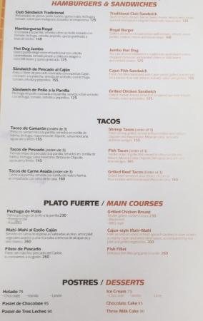 Char Hut Menu Food Picture Of The Royal Sands Resort Amp Spa All Inclusive Cancun Tripadvisor