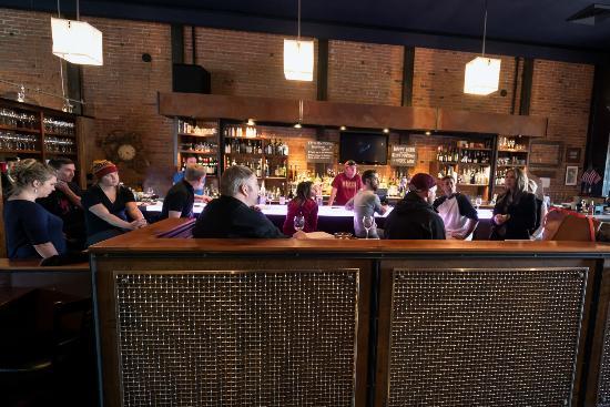 Ketchum, ID: The bar area.
