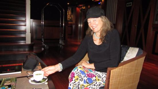 U232 Hotel: Patty enjoys a spot of tea in the lounge