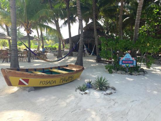 Holbox Hotel Mawimbi: View from ocean of Mawimbi!
