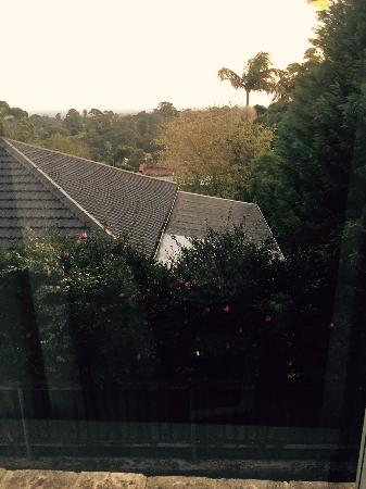 Lane Cove, Australia: The view from the window at the rear of my room