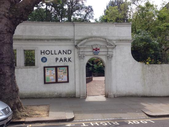 The North Entrance Of Park Just Off Holland Road Leading From