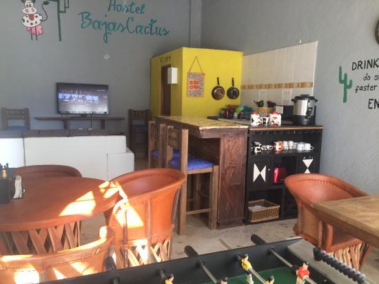 Bajas Cactus Hotel y Hostel : cocina