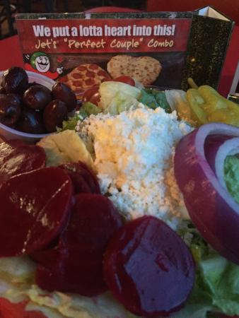 Lenoir City, TN: Greek salad & Jets 10 deep dish pizza