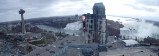 Hilton Niagara Falls Fallsview Hotel Suites View From Restaurant At