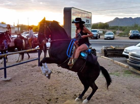 Cowgirl at the Hitching Post - Picture of Hitchingpost Gold