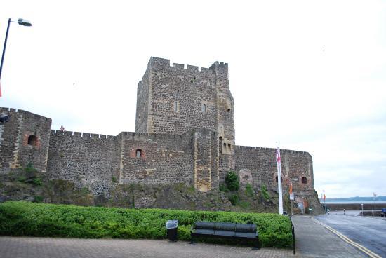 Carrickfergus, UK : Castle from parking area.