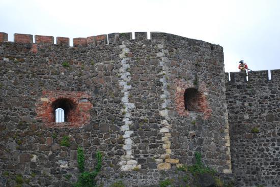 Carrickfergus, UK : Walls & ramparts. Is that a ghost soldier?