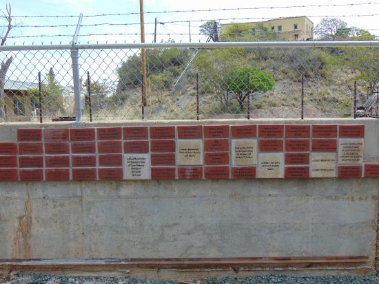Jerome, AZ: Dedication wall. You will want to spend a moment reading it.