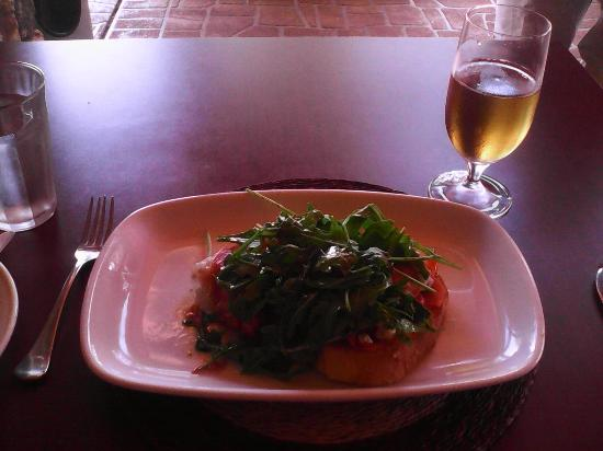 Pambula, ออสเตรเลีย: The Bruschetta different to a regular one, but the Goats Cheese had so much flavour