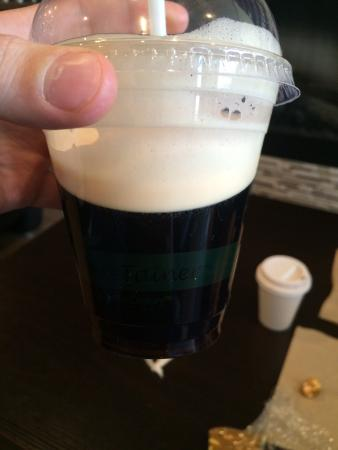 Perks Coffee House: Nitro Coffee (Looks like draft beer but it's cold brew!)