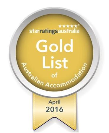 Dongara, Αυστραλία: Our Holiday Park has been awarded on to the Gold list April 2016 by Star Ratings Australia