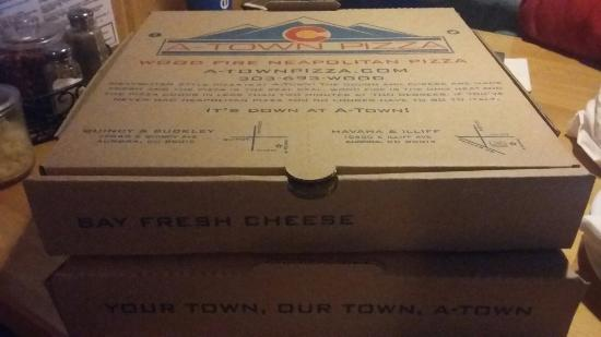 A-Town Pizza: To go box