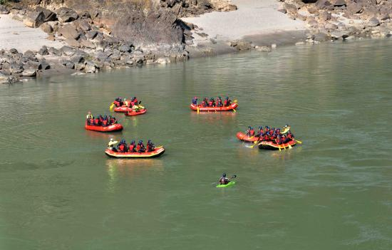 Camp Panther Rishikesh: Activity - Rafting on the Ganges