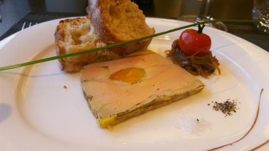 Limonest, Francia: Terrine de foie gras à l'abricot