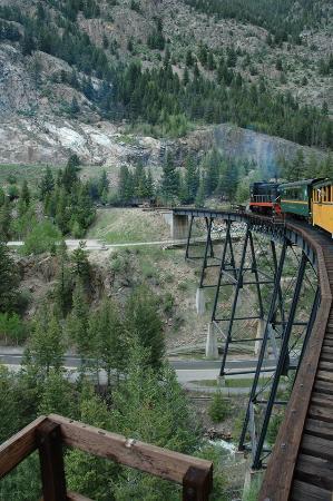จอร์จทาวน์, โคโลราโด: Met de trein over de nieuwe brug