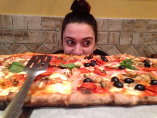 Sarracino: half and half (this was meant to be for four) it was HUGE!