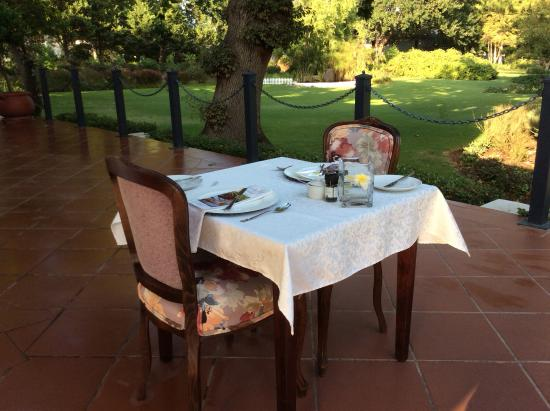 Vredenburg Manor House: Breakfast for two