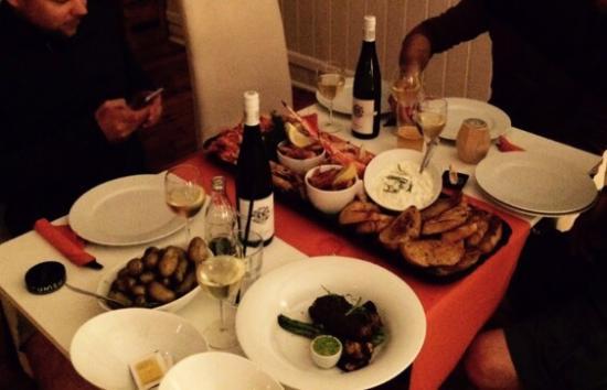 Ostfold, Νορβηγία: Bättre mat går inte att hitta. Toppklass!