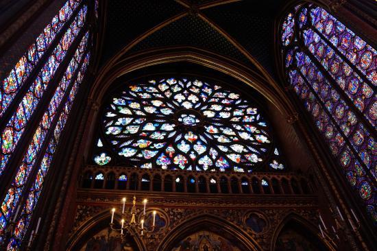 Paris, Frankreich: stained glass windows