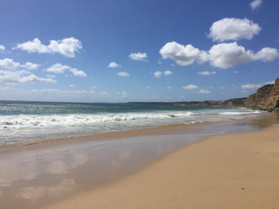Burgau, Portugal: ...what a perfect beach!
