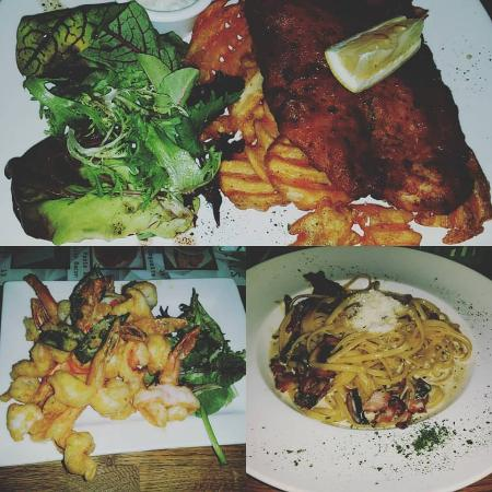 Shuffle Bistro Bar: the food we ordered.