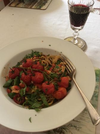 Nether Whitacre, UK: Pasta with Tomatoes