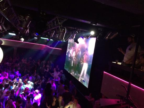 Lucerna Music Bar : Every song is accompanied by the original music video on the big screen