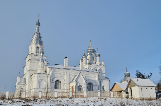 Leningrad Oblast, Rusia: Церковь Покрова Пресвятой Богородицы на Козьей горе.