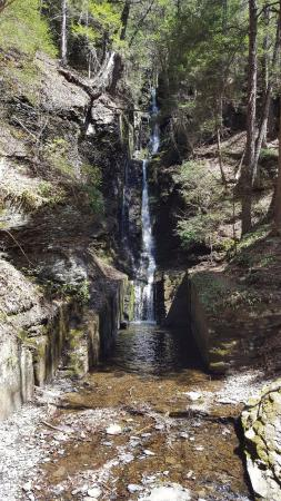 Dingmans Ferry, PA: This is the first set of falls you will see on the trail called Silver Thread Falls