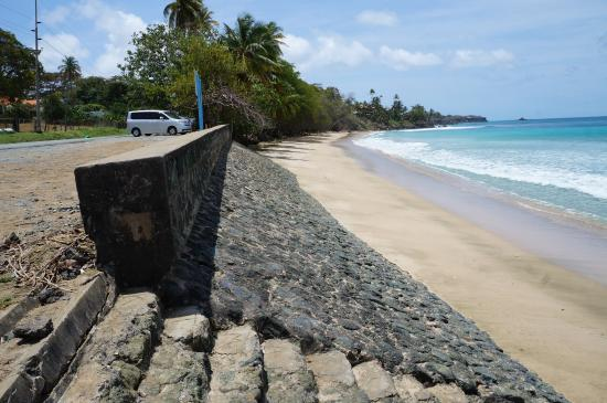 Mount Irvine, Tobago: Steps From Road To Beach