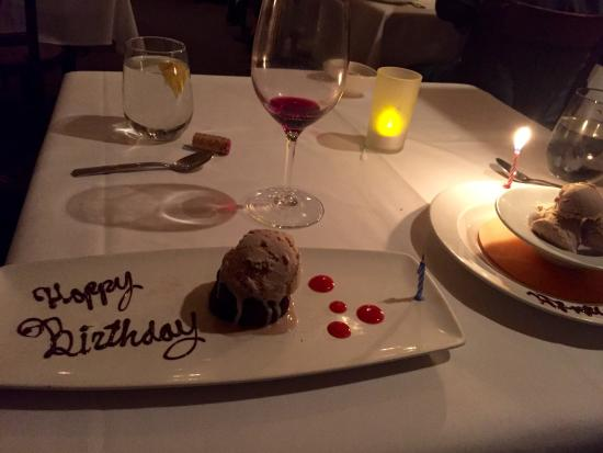 The Gathering Table Restaurant: Birthday Dessert