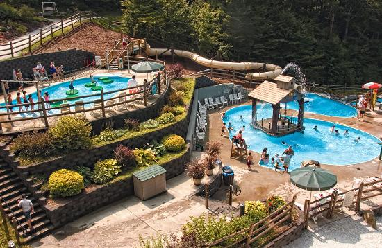 Jeffersonville, VT: Families at Smugglers' Notch love Notchville Park's 3 tiered pools