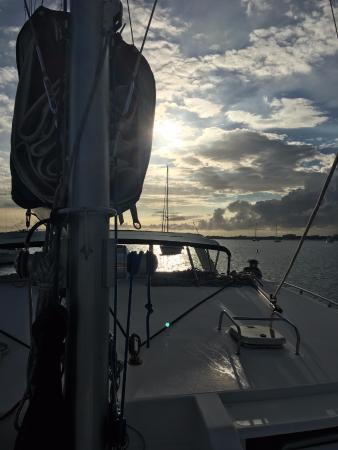 Simpson Bay, St-Martin/St Maarten: Sunsets on Spellbound