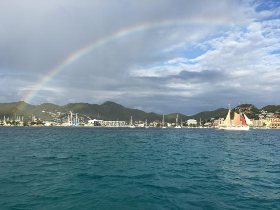 Simpson Bay, St-Martin/St Maarten: A stunning ending to our amazing day!